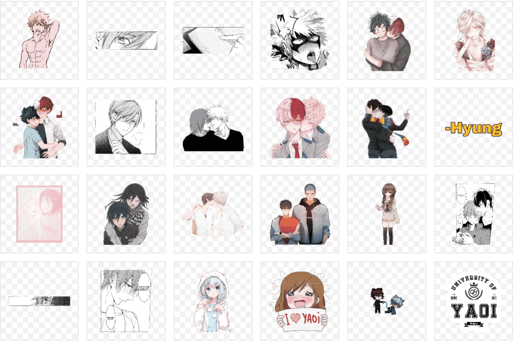 imagenes yaoi para crear stickers