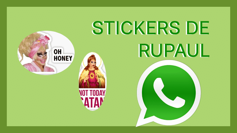 descargar stickers para whatsapp rupaul pegatinas
