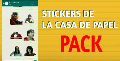 descargar Stickers de la casa de papel para whatsapp