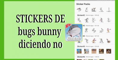 Stickers de bugs bunny diciendo no para whatsapp
