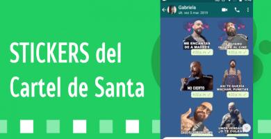 Stickers del Cartel de Santa para whatsapp