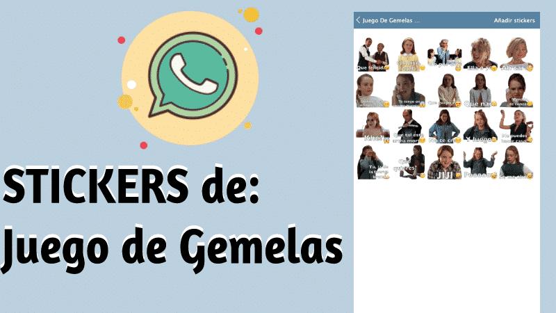 Stickers de juego de gemelaspara whatsapp
