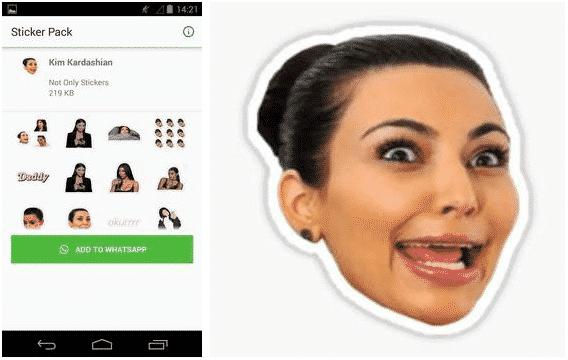 descargar WAStickerApps Kim Kardashian apk