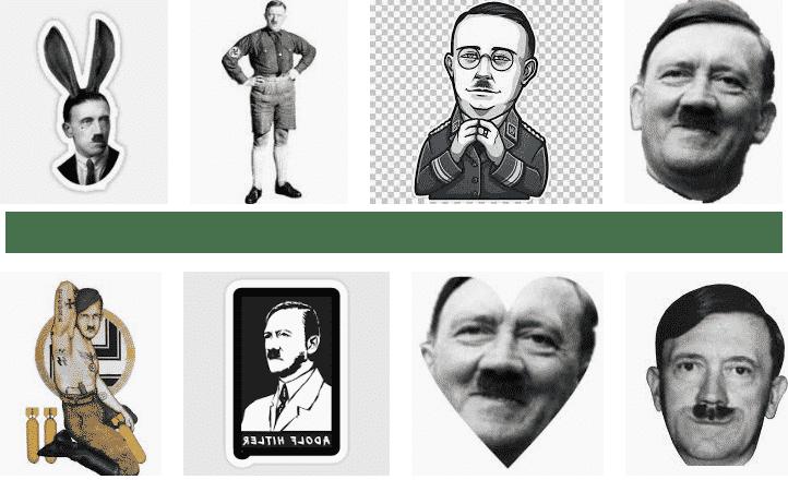 pegatinas para whatsapp de Adolf Hitler