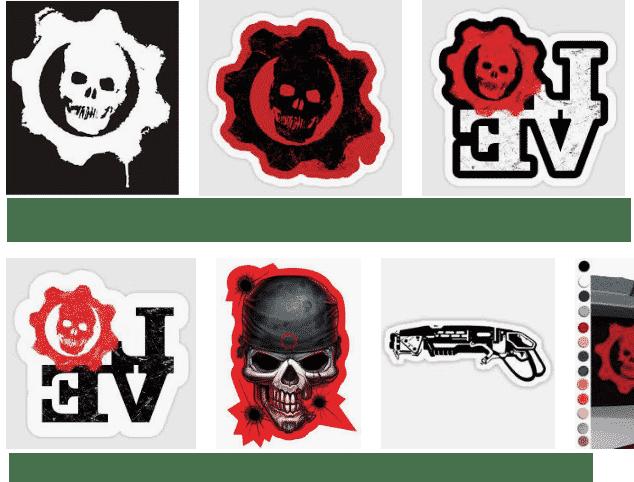 crear pegatinas para whatsapp de Gears of War