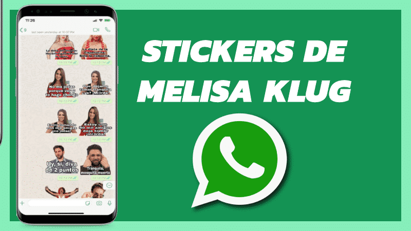 Stickers de Melissa klug para Whatsapp