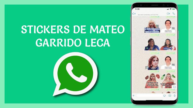 stickers de Mateo Garrido Lecca para Whatsapp