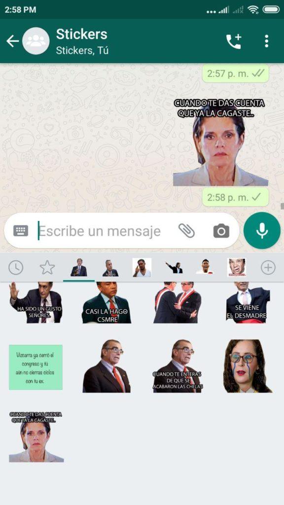 stickers de Mercedes Araoz whatsapp