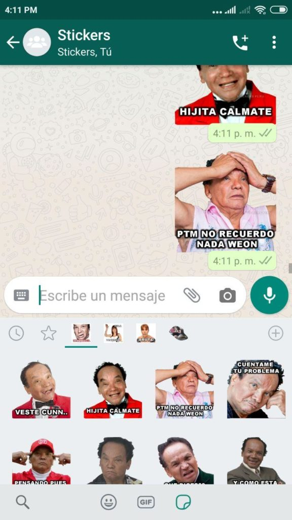 stickers de melcochita para whatsapp