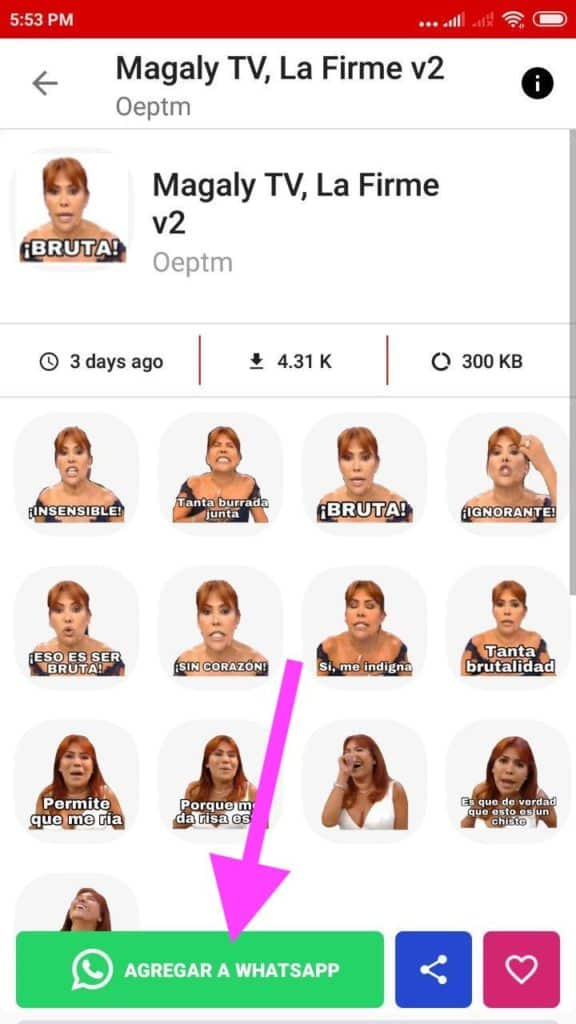 Stickers de Magaly TV la Firme para Whatsapp