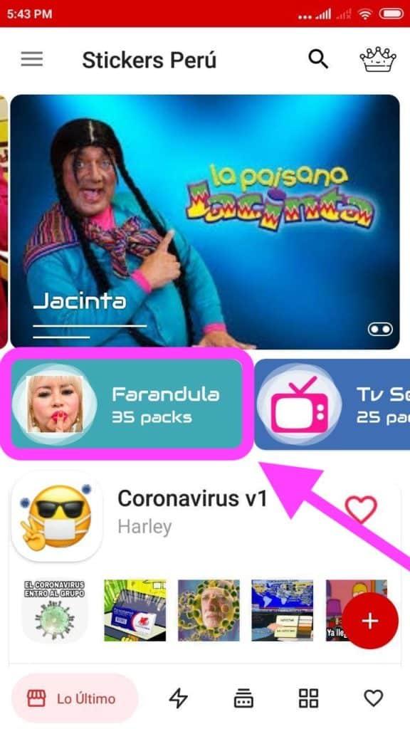 descargar Stickers de Farandula peruana para Whatsapp