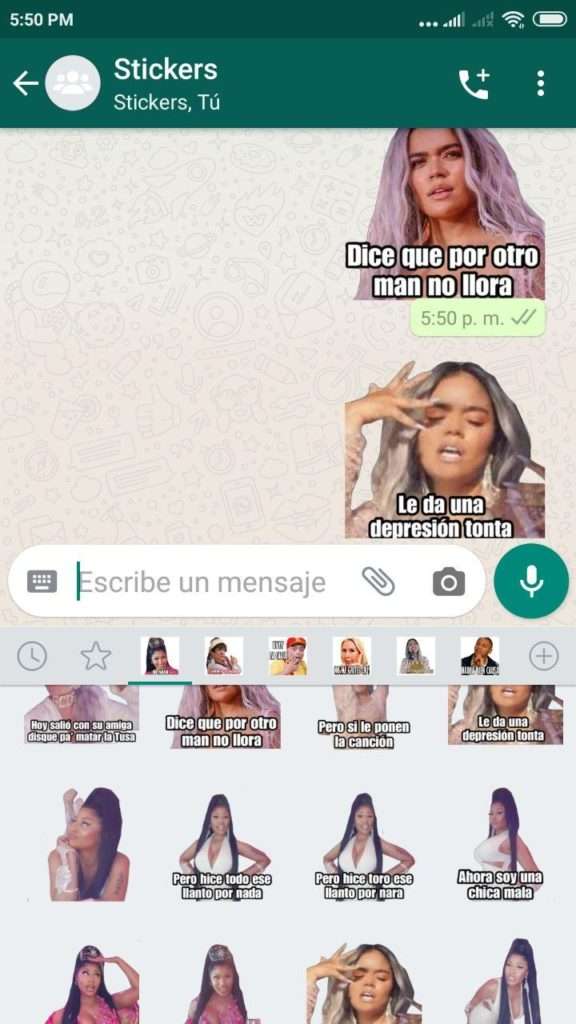descargar Stickers de Karol G para Whatsapp