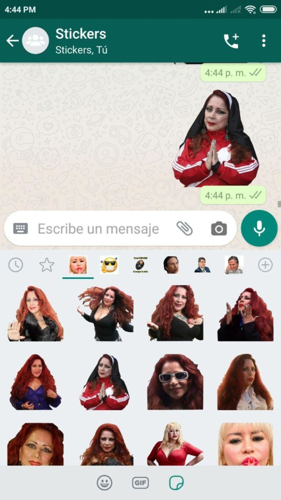 descargar Stickers de Monique Pardo para Whatsapp