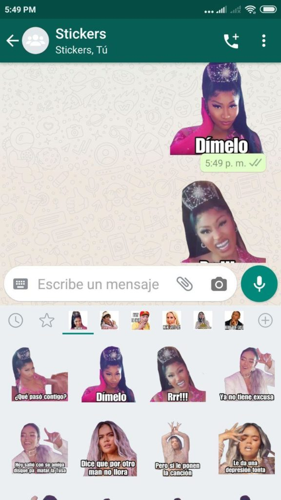 descargar Stickers de Nicky Minaj para Whatsapp