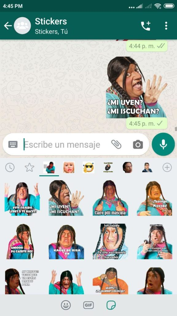 descargar Stickers de Paisana Jacinta para Whatsapp