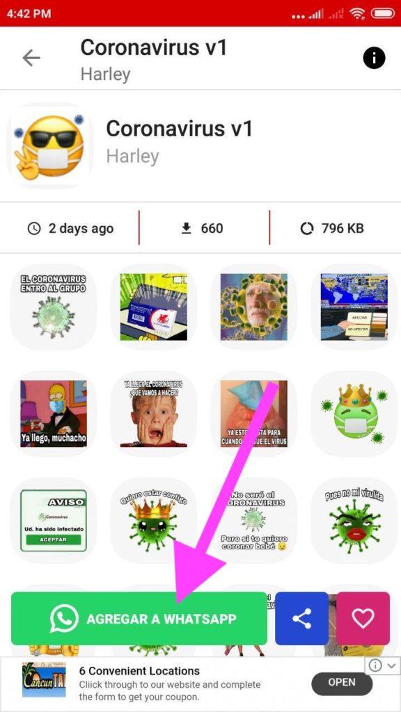 nuevos Stickers del coronavirus para Whatsapp