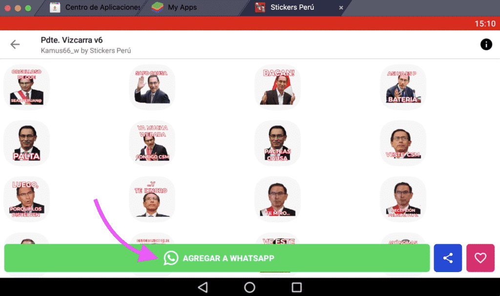 descargar Stickers de Presidente Vizcarra para Whatsapp
