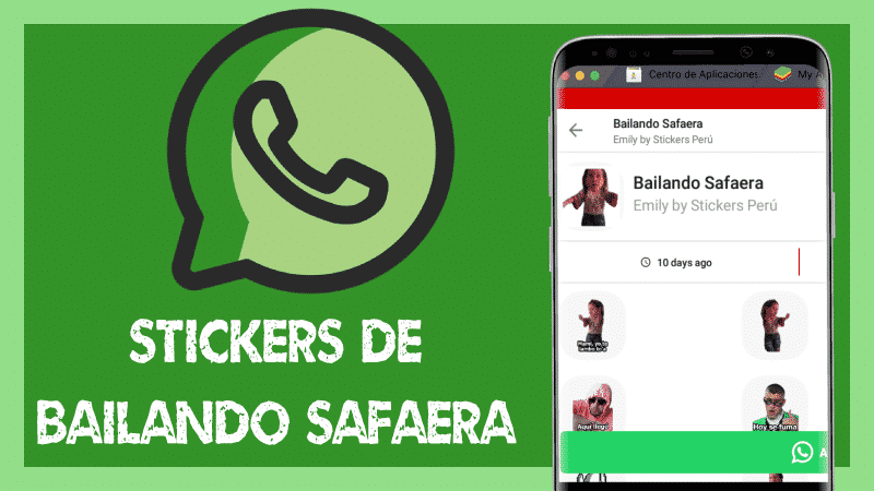 Stickers de bailando safaera para Whatsapp