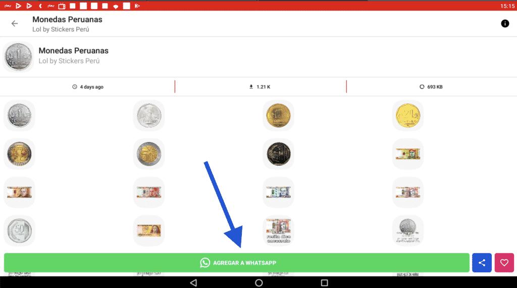 Stickers de monedas de peru sol
