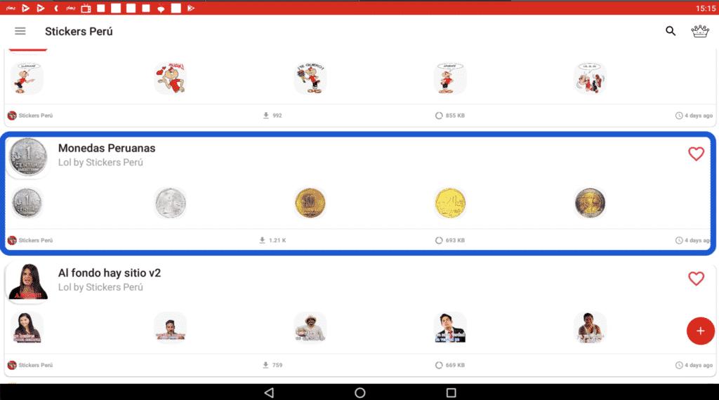 Stickers de monedas peruanas nuevo sol