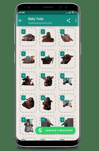 Stickers de baby yoda para whatsapp