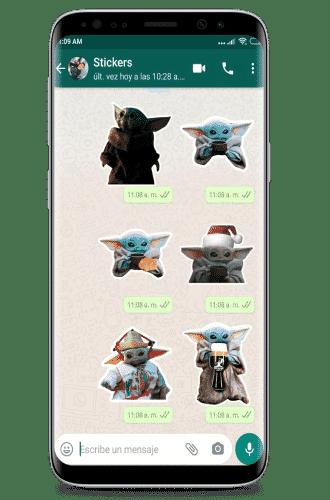 descargar Stickers de baby yoda para whatsapp