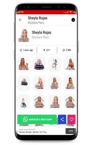 stickers de sheyla rojas para whatsapp